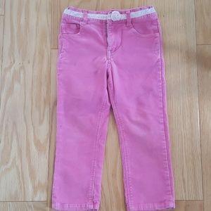 Toddler girl 3T pink corduroy pants